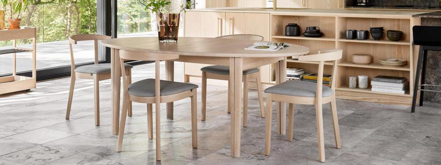 Esstisch oval schwarz, Tisch schwarz, Länge 240 cm